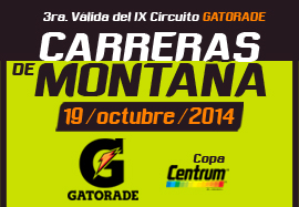 3era. Carrera de Montaña Gatorade Copa Centrum