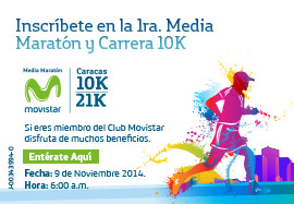 Media Maratón Movistar Caracas 2014